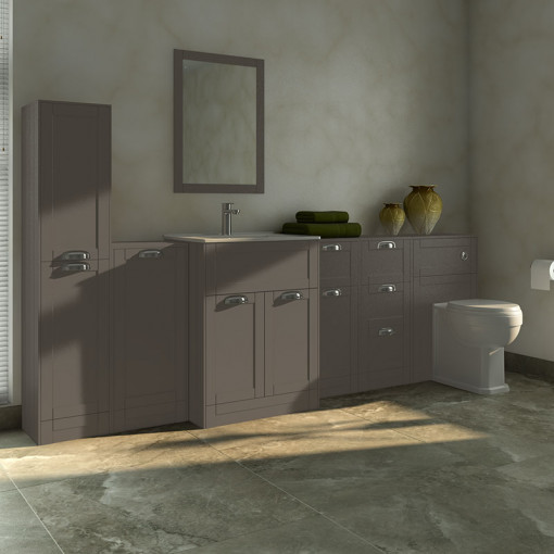 Nottingham Grey 1000 Furniture Bathroom Suite with Park Royal™ Back to Wall Toilet