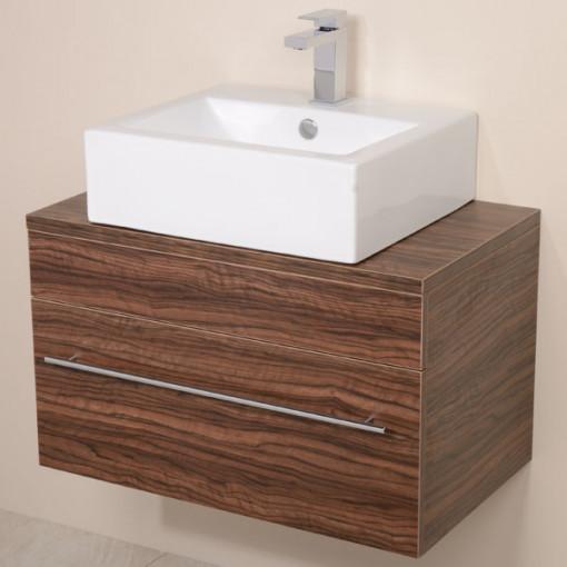 Aspen™ 750 Wall Mounted Walnut Cabinet with Rec Basin