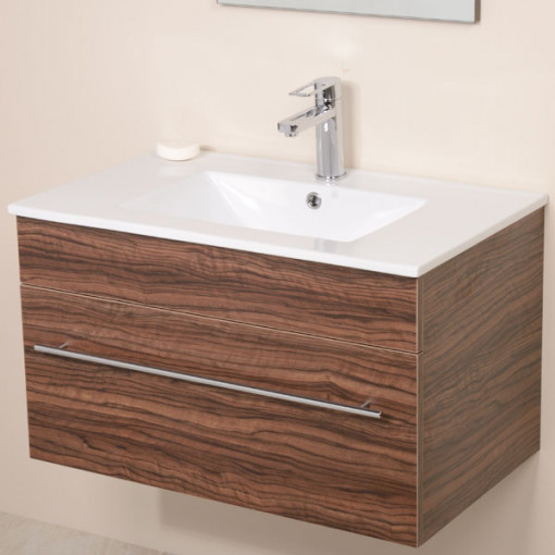 Aspen™ 750 Wall Mounted Walnut Cabinet with Artisan Basin