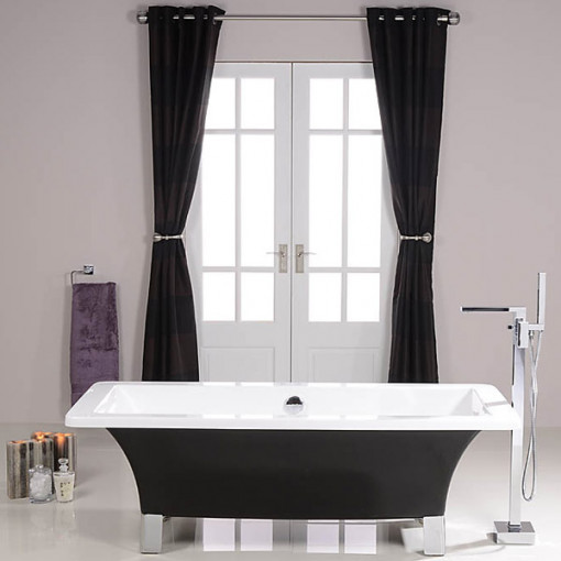 athena black 1600 x 750 freestanding bath. Black Bedroom Furniture Sets. Home Design Ideas