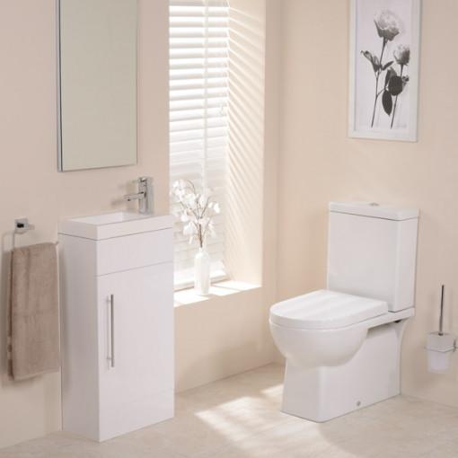 Modena Aspen White Cloakroom Furniture Pack