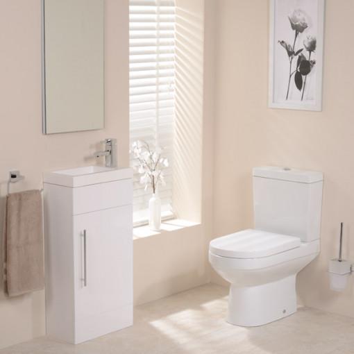 Dee Aspen™ White 410 Cloakroom Pack