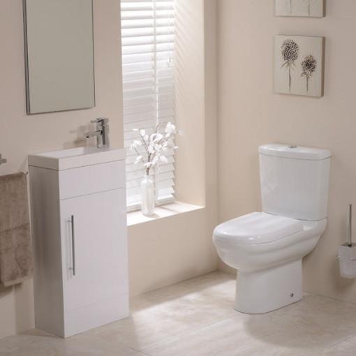 Micro Aspen White Cloakroom Furniture Pack