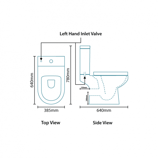 Voss Dee 45 Vanity Unit Shower Bath Bathroom Suite