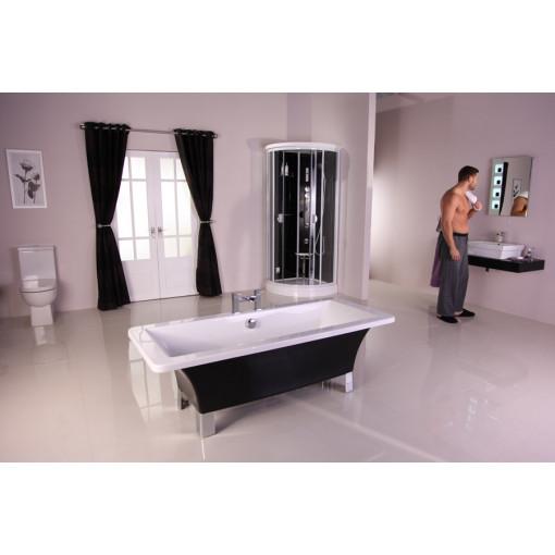 Athena Black 1600 X 750 Freestanding Bath