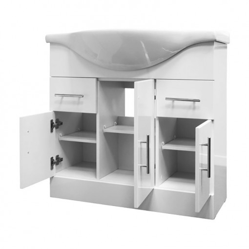 Windsor™ 75 White Vanity Basin Unit