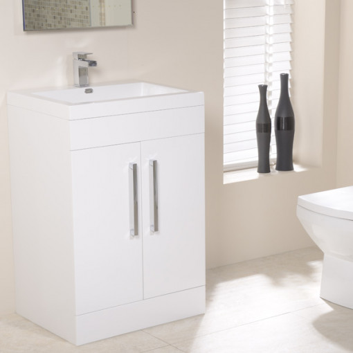 TD60 Luxury White Combination Unit with Sofia Pan