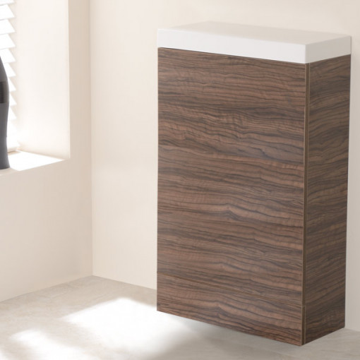 TD50 Walnut WC Unit with Impressions Pan
