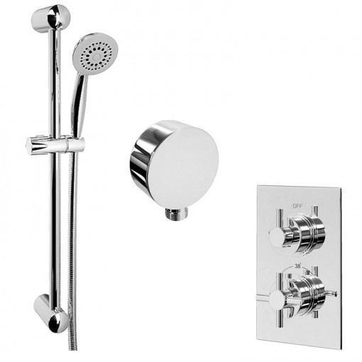 EcoStyle Concealed Dual Control Shower Valve with Outlet and 5 Spray Ezio Kit