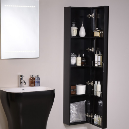 wall hung tall bathroom cabinets eclipse wall mounted storage unit 28061