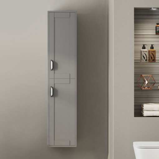 Nottingham Grey 1400 Wall Hung Tall Boy Storage Unit