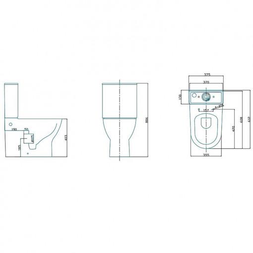 Ashford Cloakroom Natural Oak 400 Wall Hung Vanity Unit with Premier Freya Close Coupled Toilet & Seat
