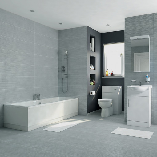 Voss 45 Vanity Unit Straight Bath Bathroom Suite
