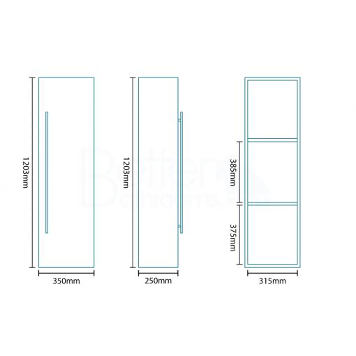 Aspen™ 600 Walnut Bathroom Furniture Pack
