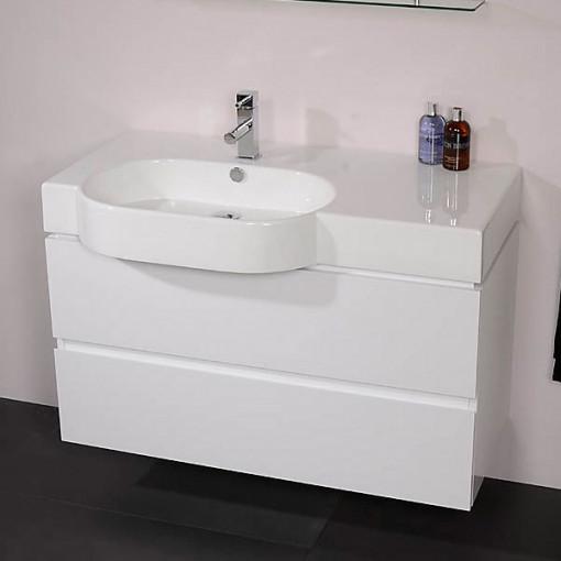 Madrid 1000mm White Vanity Unit
