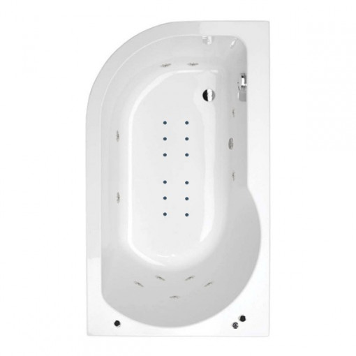 1550 x 900 Impressions Luxury Right Handed Hydrotherapy Bath