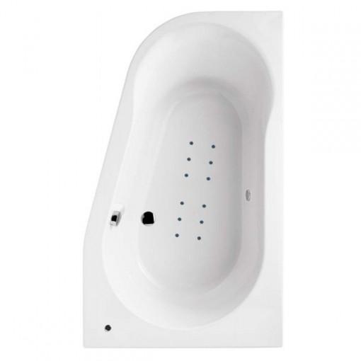 1500 x 900 Prima Offset Luxury Right Handed Corner Airspa Bath