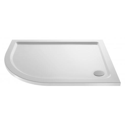 Aquafloe™ 6mm 900 x 760 Offset Sliding Door Quadrant Enclosure & Left Hand Tray with Maine Suite
