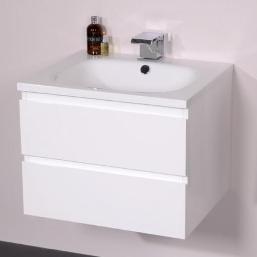 Barcelona 600 White Vanity Unit
