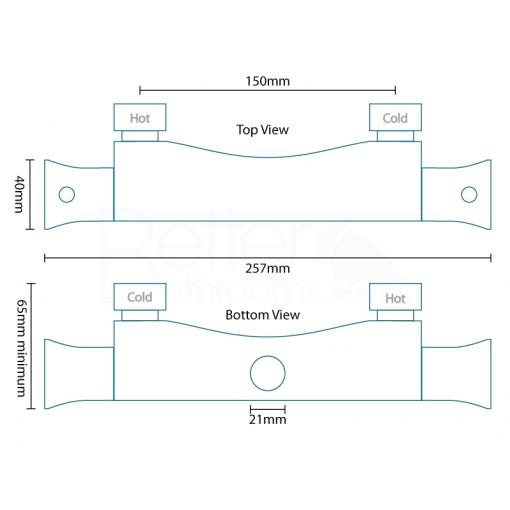 Eco Slide Shower Rail Kit with Ecobar Valve