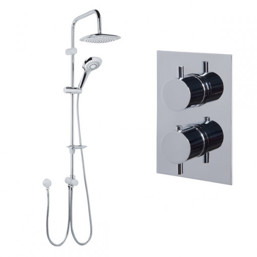 Vision Riser Slide Shower Rail Kit with S9 Dual Valve & Wall Outlet