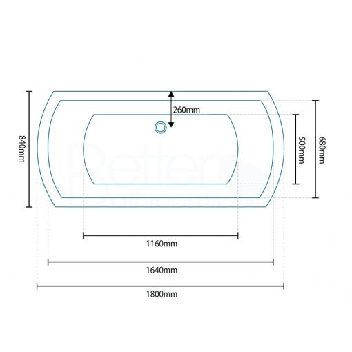 Tabor™ Semi Pedestal Freestanding Bathroom Suite