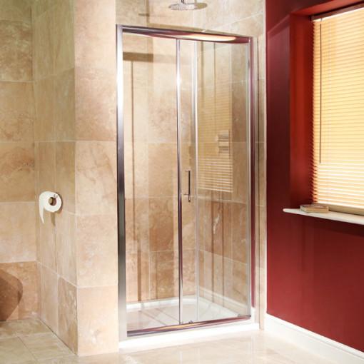 Aquafloe 6mm 1000 x 700 sliding door shower enclosure for 1000 bifold shower door