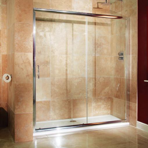 Aquafloe 6mm 1600 sliding shower door for 1700 high shower door