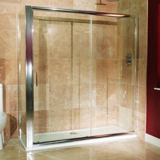 Aquafloe™ 6mm 1700 x 760 Sliding Door Shower Enclosure