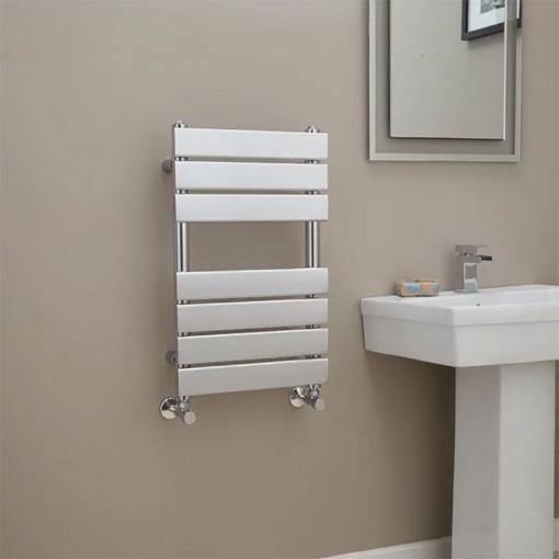 6 Rung Electric Heated Towel Rail: Lorenzo Beta Heat 650 X 400mm Chrome Heated Towel Rail
