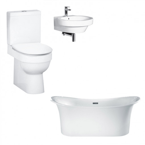 Torrelino Hallmoor Bathroom Suite with Taps