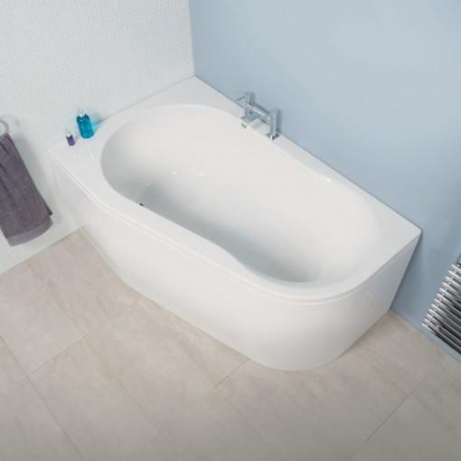 Luxury Bath with Hallmoor Two Piece Bathroom Suite inc Taps & Waste