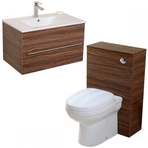 Impressions Aspen™ 750 Walnut Back To Wall Suite