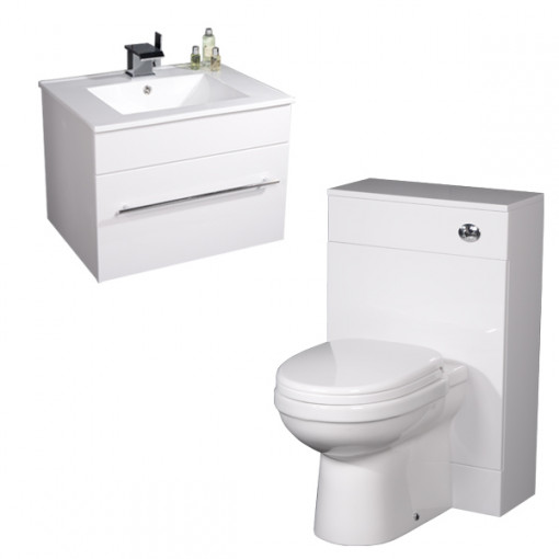Impressions Aspen™ 600 White Back To Wall Suite
