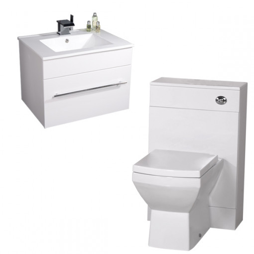 Tabor Aspen 600 White Back To Wall Suite