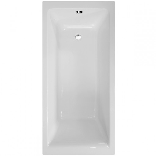 Carona 1800 x 800 Straight Shower Bath with 6mm Hinged Screen