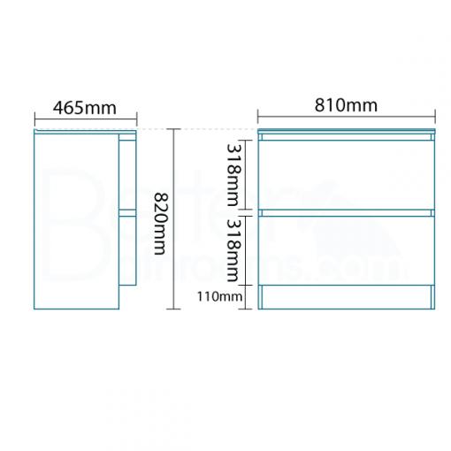 Voss™ 810 Drawer Combination Unit