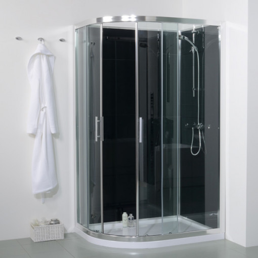 6mm 1200 Offset Right Hand Quadrant Shower Cabin With