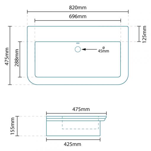 Debonair Countertop Basin