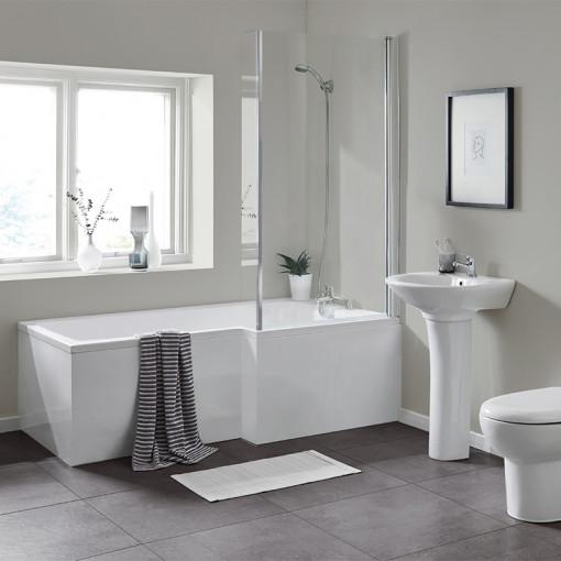 1700 Veneto Right Hand Square Shower Bath Suite