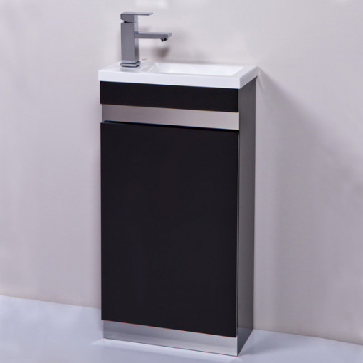Vigo 420mm Black Cloakroom Vanity Unit