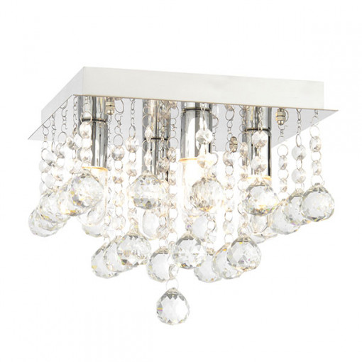 Bathroom Ceiling Lights Crystal Square : Dillian small square flush ceiling light