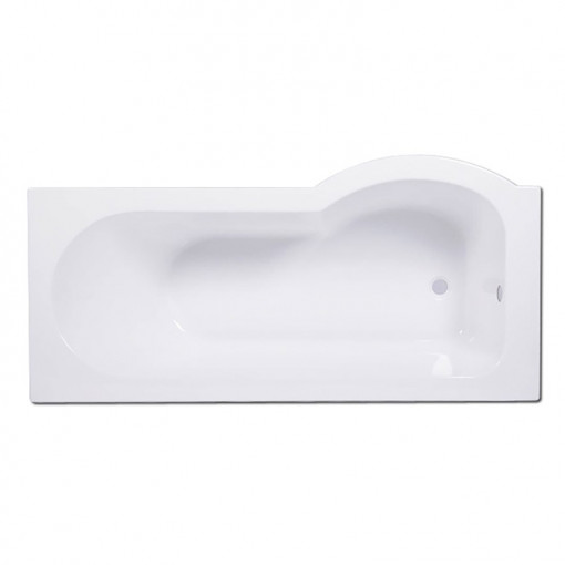 Dee 1800 x 800 Left Hand P-Shaped Shower Bath with 6mm Curved Screen