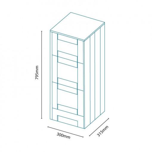 Nottingham Ivory 3 Drawer Storage Unit