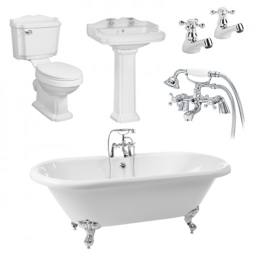 1700 Traditional Victoriana Double Ended Bath Suite Deal