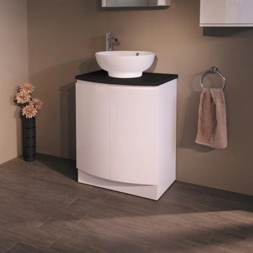 Voss™  620 Floor Mounted Black Countertop Vanity Unit