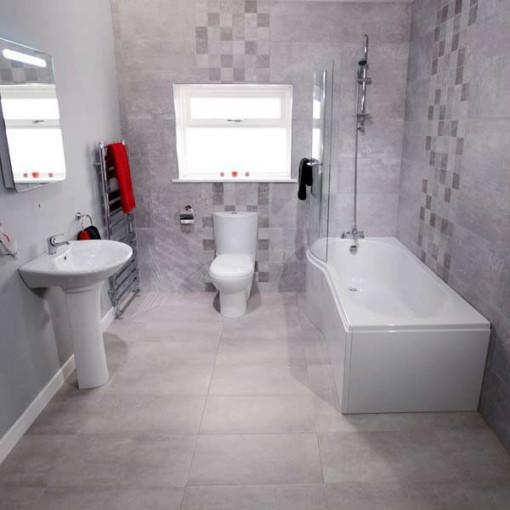 1500 Prima Left Hand Shower Bath Suite