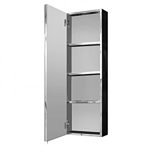Stainless Steel Tall Mirrored Cabinet 900(H) 300(W) 140(D