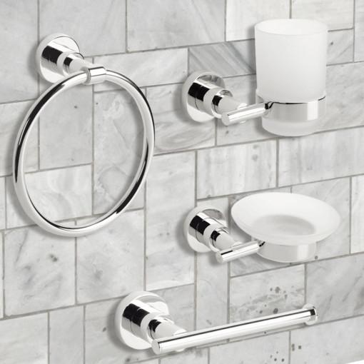 Ice 4 Piece Bathroom Accessory Pack