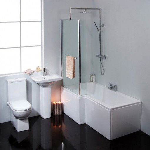 Modena Verona Right Hand Shower Bath Suite